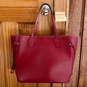 Louis Vuitton Red Epi Leather Neverfull MM